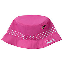 Buy John Lewis Girl Minnie Mouse Fisherman Hat, Pink Online at johnlewis.com