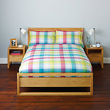 Buy John Lewis Mexicana Check Bedding, Multi Online at johnlewis.com