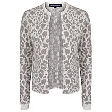 Buy French Connection Simba Knit Cardigan, Daisy White/Shale Online at johnlewis.com