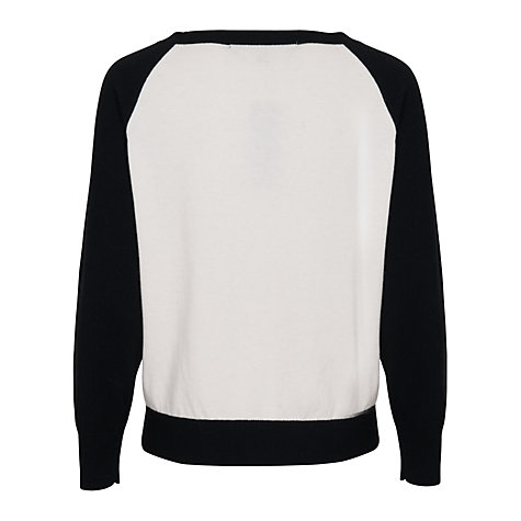 Buy French Connection Robin Raglan Jumper, Willow White Online at johnlewis.com
