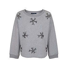 Buy French Connection Snowflake Jumper, Grey Melange Online at johnlewis.com