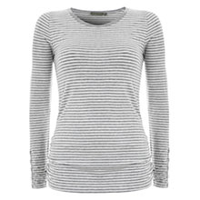 Buy Mint Velvet Stripe Top, Grey Online at johnlewis.com