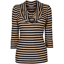 Buy Phase Eight Caitlin Cowl Top, Navy/Camel Online at johnlewis.com