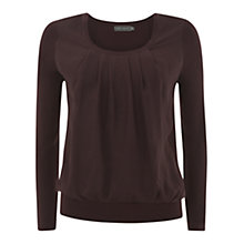 Buy Mint Velvet Silk Panel Top, Wine Online at johnlewis.com