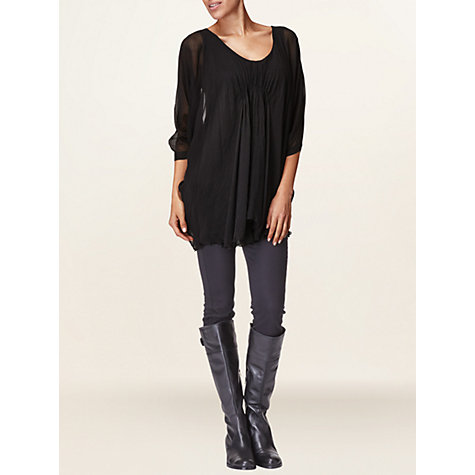 Buy Phase Eight Tunic Top, Black Online at johnlewis.com