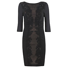 Buy Mint Velvet Embroided Bodycon Dress, Black Online at johnlewis.com