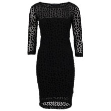 Buy French Connection Simba 3/4 Sleeve Dress, Black Online at johnlewis.com
