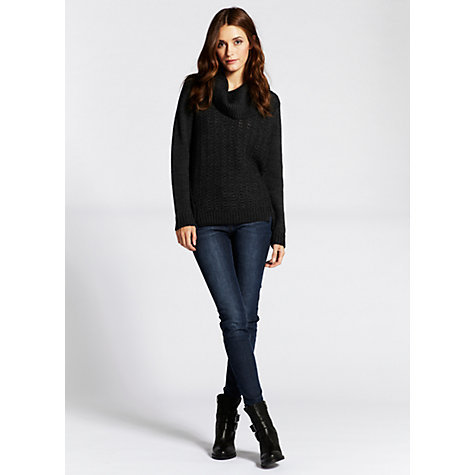 Buy Mint Velvet Chunky Knit Jumper, Grey Online at johnlewis.com