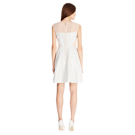 Buy Coast Laguardia Dress, Silver Online at johnlewis.com