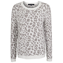Buy French Connection Simba Knit Jumper, Daisy White/Shale Online at johnlewis.com