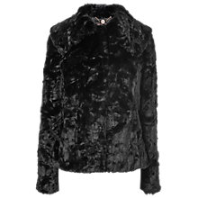 Buy Phase Eight Faux Fur Jacket, Black Online at johnlewis.com