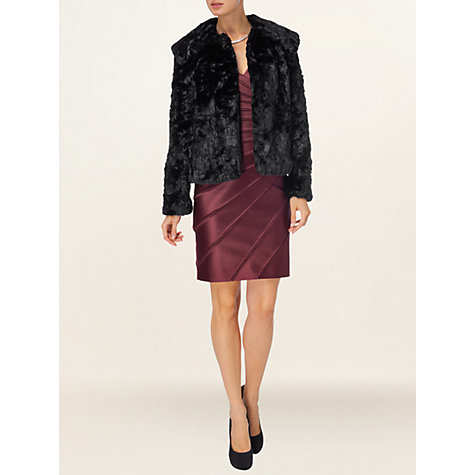Buy Phase Eight Fern Faux Fur Jacket, Black Online at johnlewis.com