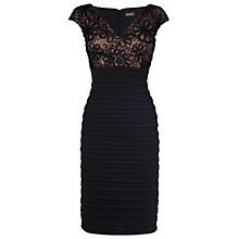 Buy Phase Eight Wanda Tapework Floral Dress, Black Online at johnlewis.com