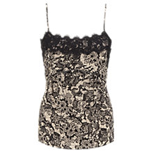 Buy Jigsaw Lace Print Camisole, Cream Online at johnlewis.com