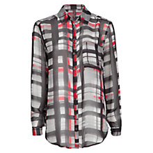 Buy Mango Check Chiffon Shirt Online at johnlewis.com