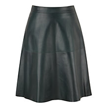 Buy Viyella Ella Leather Skirt, Green Online at johnlewis.com