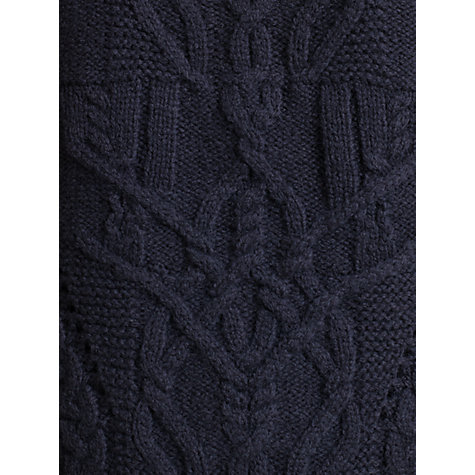 Buy Jigsaw Cable Jumper, Green Online at johnlewis.com
