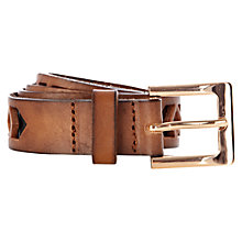 Buy Warehouse Deco Cut Out Jeans Belt, Tan Online at johnlewis.com