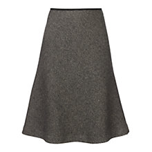 Buy Jigsaw Birdseye Tweed Skirt, Black Online at johnlewis.com