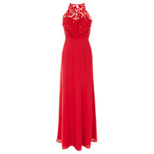 Buy Coast Lana Lace Maxi Dress, Red Online at johnlewis.com