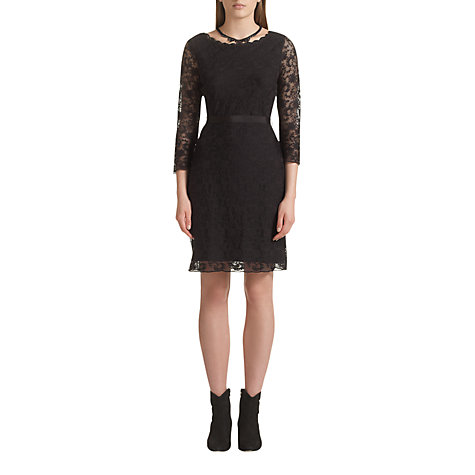 Buy Jigsaw Lace Jersey Dress Online at johnlewis.com