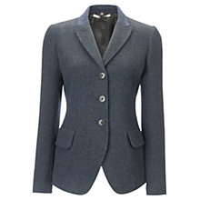 Buy Jigsaw Winter Herringbone Jacket, Navy Online at johnlewis.com