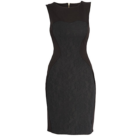 Buy Almari Lace Panel Dress, Black Online at johnlewis.com