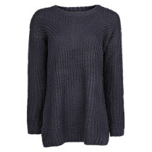 Buy Mango Mohair Cable Knit Jumper, Dark Blue Online at johnlewis.com