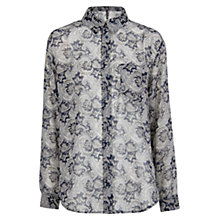 Buy Mango Paisley Print Shirt, Blue Online at johnlewis.com
