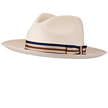 Buy Olney Wide Prim Panama Hat, Natural Online at johnlewis.com