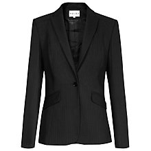 Buy Reiss Ambrose Pinstripe Tailored Jacket, Black Online at johnlewis.com
