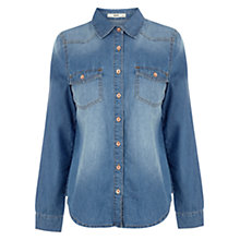 Buy Oasis Stephanie Denim Shirt, Denim Online at johnlewis.com