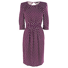Buy Warehouse Polka Dot Dress, Red Online at johnlewis.com