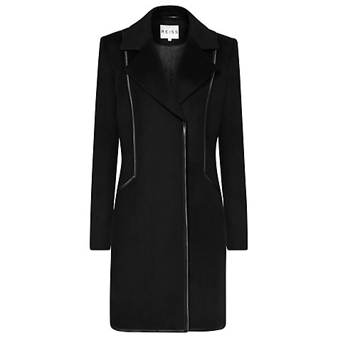 Buy Reiss Berwick Longline Jacket, Black Online at johnlewis.com