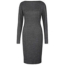 Buy Hobbs Cheam Dress, Black/Grey Online at johnlewis.com