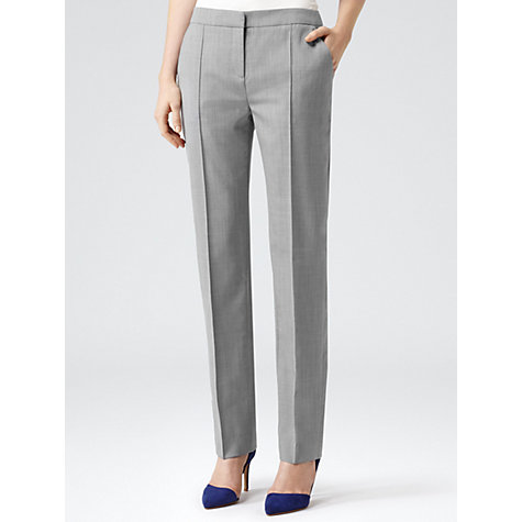Buy Reiss Nell Arc Tailored Trousers, Mid Grey Online at johnlewis.com