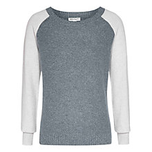 Buy Reiss Patmos Glitter Jumper, Neutral/grey Online at johnlewis.com