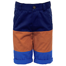 Buy John Lewis Boy Block Colour Chino Shorts, Tan/Blue Online at johnlewis.com