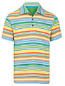 John Lewis Boy Stripe Polo Shirt, Multi