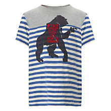 Buy John Lewis Boy Stripe Gorilla T-Shirt, Blue Online at johnlewis.com