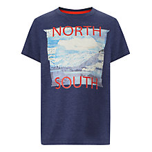 Buy John Lewis Boy North South T-Shirt, Navy Online at johnlewis.com