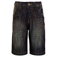 Buy John Lewis Boy Knee Length Denim Shorts, Dark Blue Online at johnlewis.com