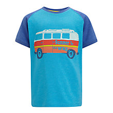 Buy John Lewis Boy Campervan Print T-Shirt, Blue Online at johnlewis.com