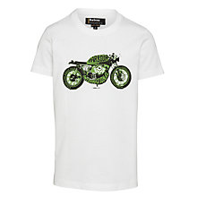 Buy Barbour International Boys' Roxburgh T-Shirt, White Online at johnlewis.com