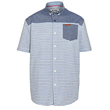 Buy Ben Sherman Boys' Stripe Chambray Shirt, Blue Online at johnlewis.com