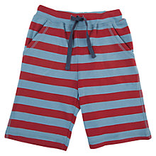 Buy Frugi Boys' Stripe Jersey Shorts, Red/Blue Online at johnlewis.com