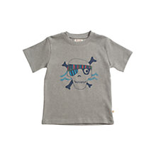 Buy Frugi Boys' Skull Print Marl T-Shirt, Grey Online at johnlewis.com