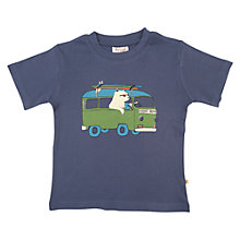 Buy Frugi Boys' Polar Bear T-Shirt, Indigo Online at johnlewis.com