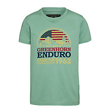 Buy Barbour Boys' International Globe T-Shirt, Green Online at johnlewis.com