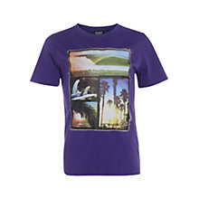 Buy Animal Boys' Hudders Graphic Print Collage T-Shirt, Purple Online at johnlewis.com